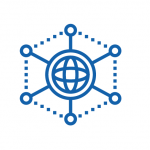 Pictogramme réseau bleu